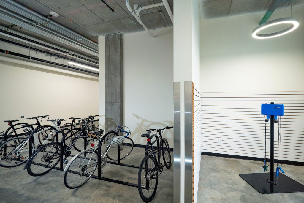 amazon corner bike locker room and repair station